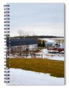 Western New York Farm As An Oil Painting Spiral Notebook