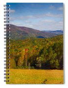 Western North Carolina Horses And Mountains Panorama Spiral Notebook