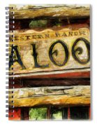 Western Saloon Sign - Drawing Spiral Notebook