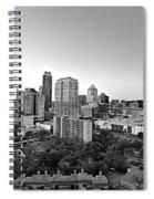 Western View Of Austin Skyline Spiral Notebook