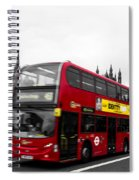 Westminster And Red Bus Spiral Notebook