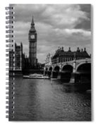 Westminster Pano Bw Spiral Notebook