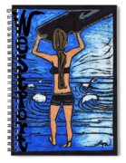 Westport Surfer Chick Spiral Notebook