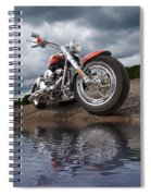 Wet And Wild - Harley Screamin' Eagle Reflection Spiral Notebook