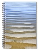 Wet Sand Texture On Ocean Shore Spiral Notebook