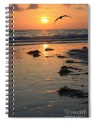 Wet Sunset Spiral Notebook