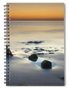 Wet Sunset Reflections Spiral Notebook