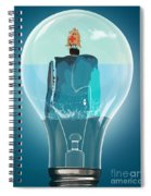 Whale Lights  Spiral Notebook