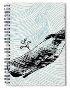 Whale On Wave Paper Spiral Notebook