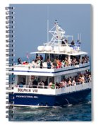 Whale Watching Boat Spiral Notebook