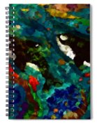 Whales At Sea - Orcas - Abstract Ink Painting Spiral Notebook