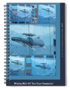 Whaling Wall 42 -  East Coast Humpbacks - Original Painting By Wyland Spiral Notebook