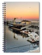 Wharf #2 In Monterey At Sunset Spiral Notebook