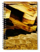 Wharf Reflections In Brown Spiral Notebook