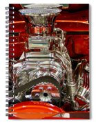 What Is Under The Hood-red Customized Retro Pontiac Spiral Notebook