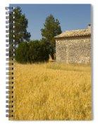 Wheat Field, France Spiral Notebook
