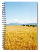 Wheat Field Near D8, Brunet, Plateau De Spiral Notebook