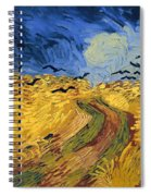 Wheat Field With Crows Spiral Notebook