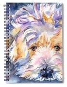 Wheaten Terrier Painting Spiral Notebook