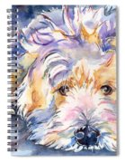 Wheaten Terrier Painting Spiral Notebook