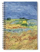 Wheatfield With Stormy Sky Spiral Notebook