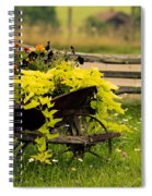 Wheel Barrow Of Flowers Spiral Notebook