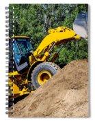 Wheel Loader Construction Site Spiral Notebook