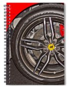 Wheel Of A Ferrari Spiral Notebook