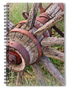 Wheel Of Old Spiral Notebook