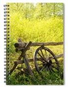 Wheel On Fence Spiral Notebook