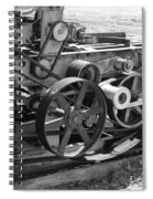 Wheels Gears And Cogs Spiral Notebook