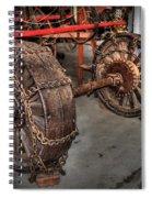 Wheels Of Old Steam Wagon Spiral Notebook