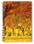 When Autumn Leaves Fall Spiral Notebook