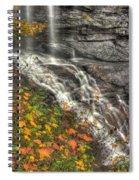 When Light And Water Falls-5a Blackwater Falls State Park Wv Autumn Mid-morning Spiral Notebook