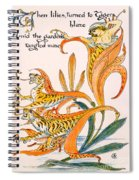 When Lilies Turned To Tiger Blaze Spiral Notebook