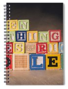 When Nothing Goes Right Go Left Spiral Notebook
