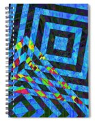 When Squares Merge Blue Spiral Notebook