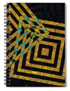 When Squares Merge Yellow Spiral Notebook