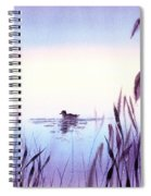 When The Sky Melts With Water A Peaceful Pond Spiral Notebook