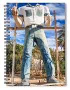 Whered It Go Muffler Man Statue Spiral Notebook