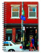 Wheres The Beef On Rue Notre Dame Joe Beef Resto Montreal Urban  Art Scene Carole Spandau Spiral Notebook