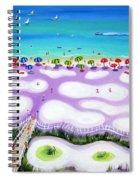 Whimsical Beach Umbrellas - Seashore Spiral Notebook