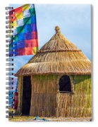 Whiphala Flag On Floating Island Spiral Notebook