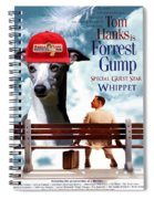 Whippet Art - Forrest Gump Movie Poster Spiral Notebook
