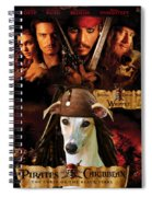 Whippet Art - Pirates Of The Caribbean The Curse Of The Black Pearl Movie Poster Spiral Notebook