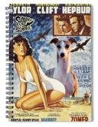 Whippet Art - Suddenly Last Summer Movie Poster Spiral Notebook