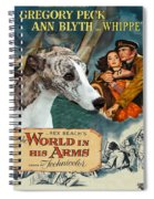 Whippet Art - The World In His Arms Movie Poster Spiral Notebook