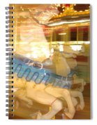 Whirling Carousel Spiral Notebook
