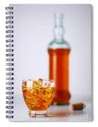 Whiskey Glass Spiral Notebook