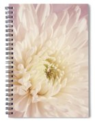 Whispering White Floral Spiral Notebook